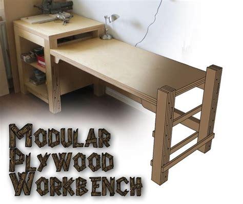 plywood work bench modular plywood workbench