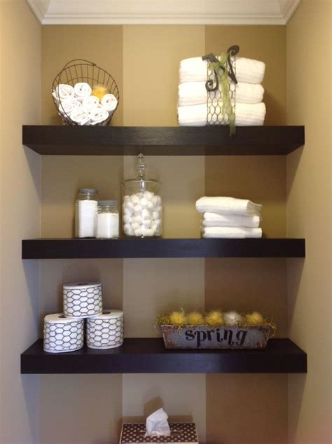 How To Decorate Bathroom Shelves 1000 Ideas About Floating Shelf Decor On Pinterest Floating Shelves Shelves And Wood