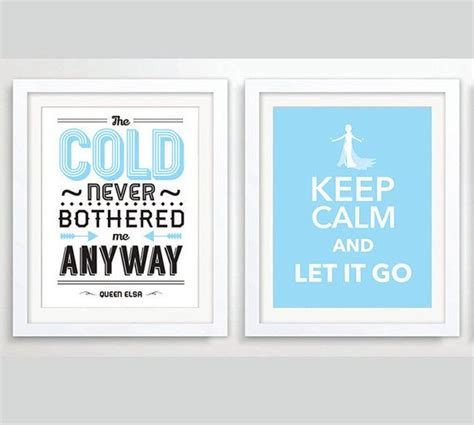 printable frozen quotes 2 x printable frozen poster let it go queen elsa