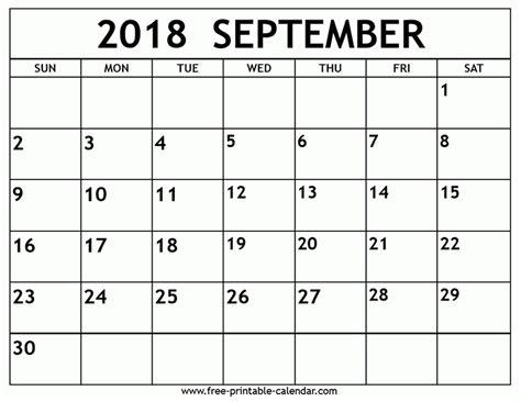 printable calendar september 2018 printable calendar september 2018 larissanaestrada com