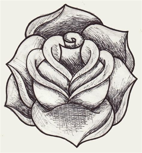 draw a tattoo rose hoontoidly drawing images