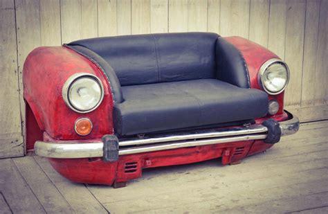 car sofas reclaimed car sofa the awesomer