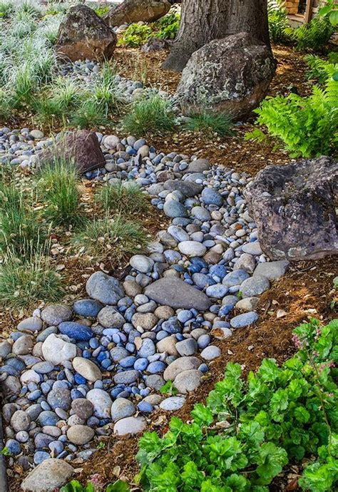 89 Best Images About Dry River Bed Ideas Xeroscaping On River Rocks For Landscaping