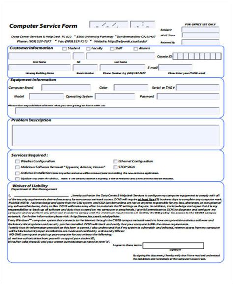 Computer Service Receipt Template by 39 Free Receipt Forms Sle Templates