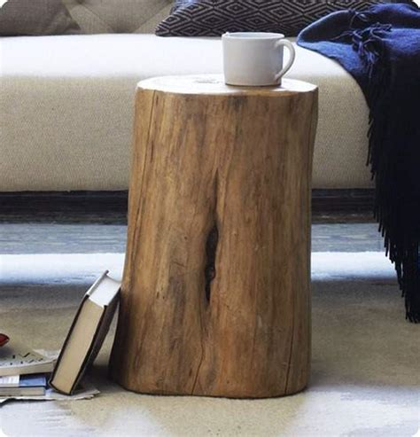 tables made from tree stumps how to a handmade tree stump side table