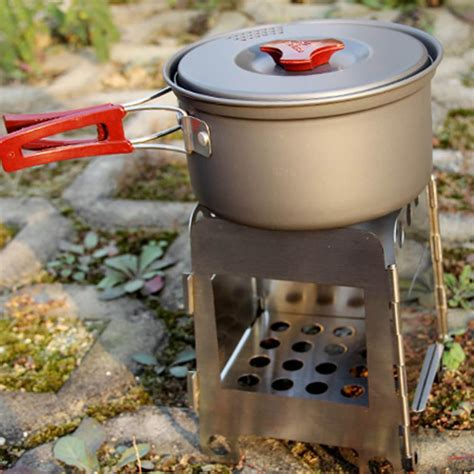 Outdoor Cing Folding Wood Stove Stainless Steel Besi Kompor outdoor cooking cing folding wood stove pocket stainless steel besi kompor silver