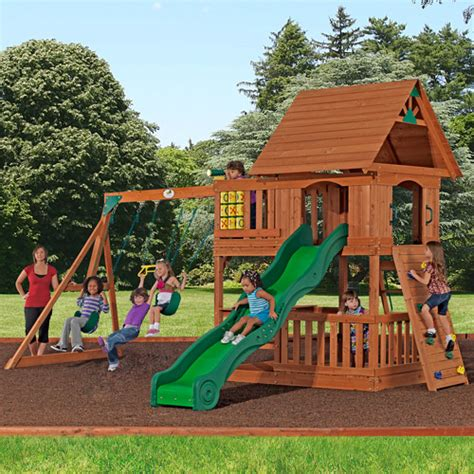 Backyard Discovery Monticello by Cedar Wooden Swing Sets Wooden Play Sets