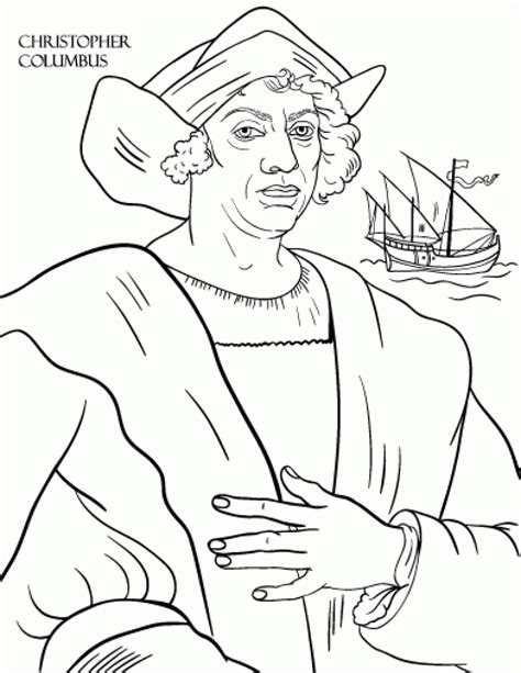 Christopher Columbus Coloring Pages Printable christopher columbus coloring pages sketch coloring page
