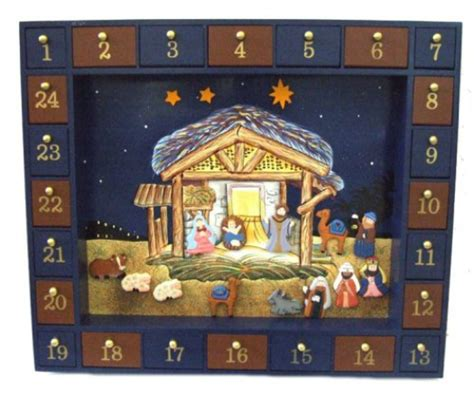 wooden nativity advent calendar with drawers christian advent calendars
