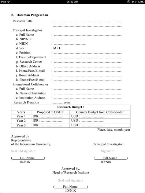 format proposal bantuan dana hibah image hibah penelitian