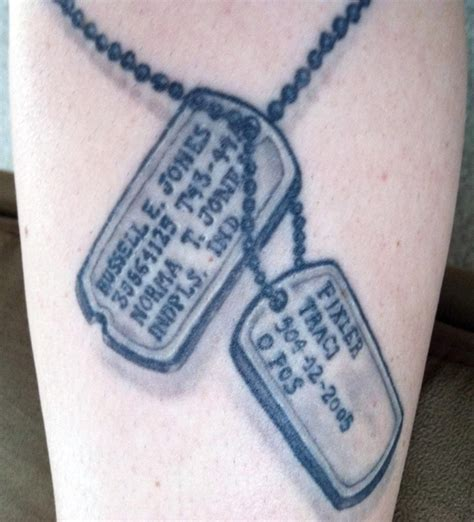 army dog tag tattoo designs dogtags http tattoosandguyliner