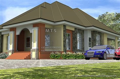 Duplex Building Plans by 3 Bedroom Bungalow