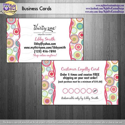 Thirty One Consultant Business Cards