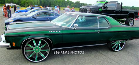 outrageous lime paint oldsmobile 98 coupe on 26 s big rims custom wheels