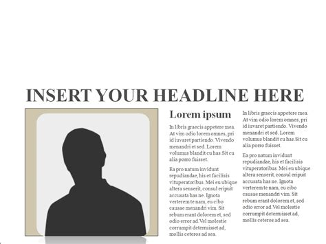 newspaper template powerpoint new one newspaper template