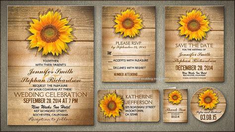 sunflower wedding invitations templates sunflower wedding invitation template sunflower wedding
