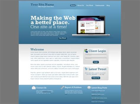 Web Design Tutorial 30 Awesome Layouts In Photoshop Designrfix Com Simple Website Design Template