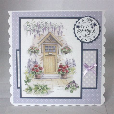 Handmade New Home Cards - handmade new home card country cottage folksy