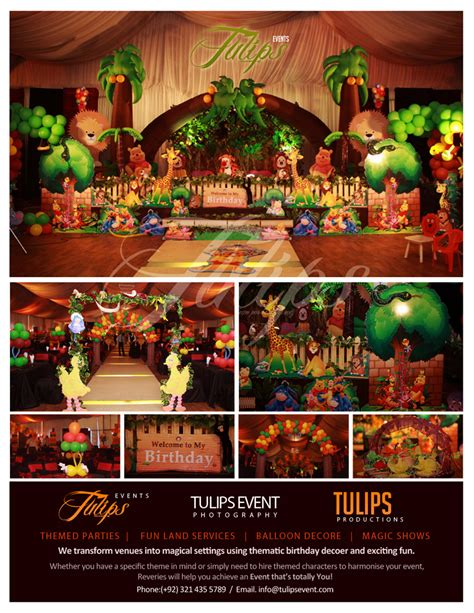 event theme decorations jungle themed best events planner in pakistan