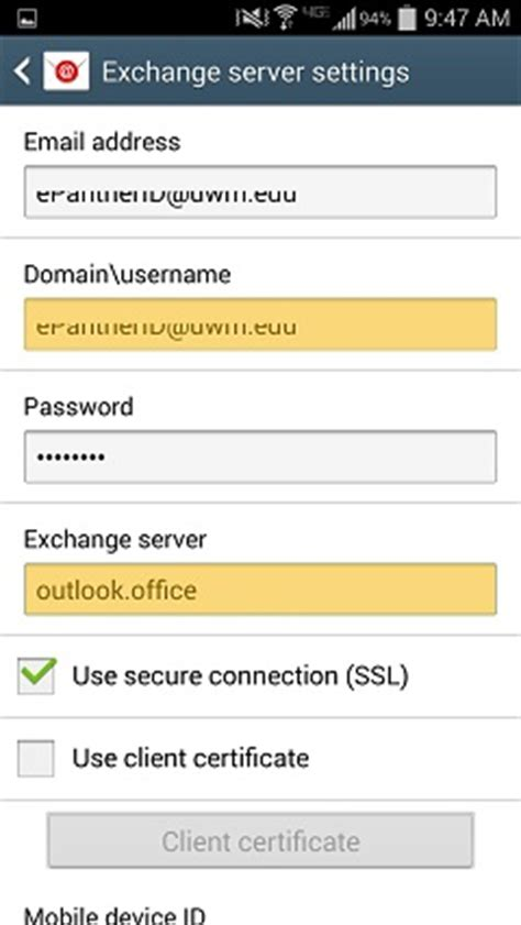 Domain Username Outlook