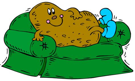 couch potato cartoon green couch potato reviewer