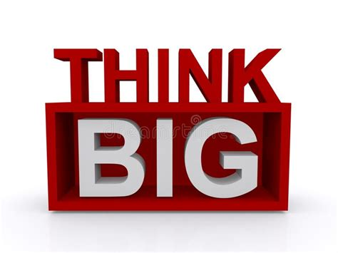 Thinking Big think big stock image image 38113431