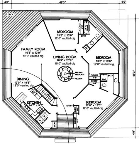 Small Octagon House Plans by Prefab Octagon House Plans House Design Plans