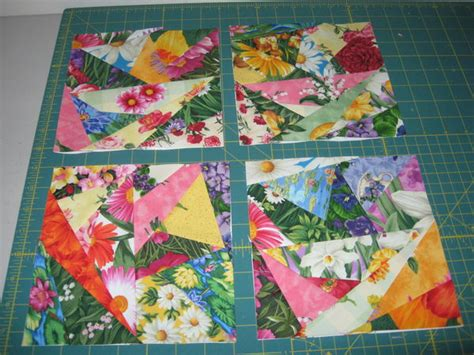 free printable scrap quilt patterns flower paper pieced scrap quilt