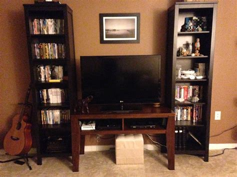 organizing small spaces luxurious cool dvd storage ideas with brown wooden