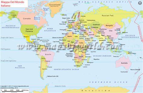 mappa del mondo world map  italian