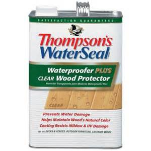thompson s waterseal 1 gal waterproofer plus clear wood