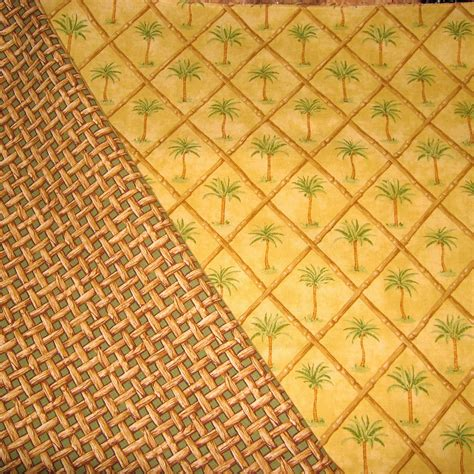 bamboo upholstery fabric tropcial fabric 100 cotton green palm tree bamboo by