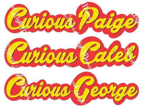 printable birthday font child s name in curious george inspired font use for
