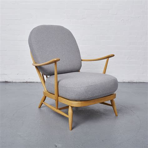 ercol bench vintage 1960 s chair ercol windsor reloved upholstery