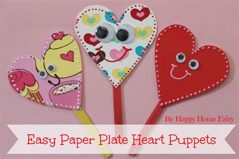 easy paper plate puppets happy home