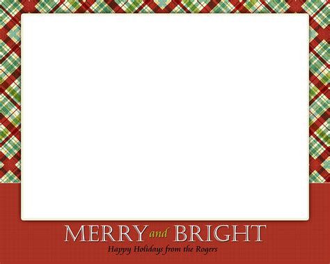 Merry Photo Cards Templates by Card Template Simple Card Design