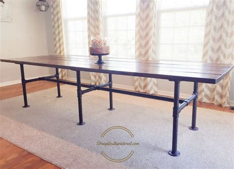 diy dining room table legs a diy industrial farmhouse pipe leg table industrial farmhouse farmhouse table and industrial