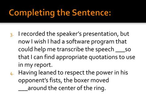 Sentence Using Opulent ppt vocabulary unit 1 e powerpoint presentation id 1577152