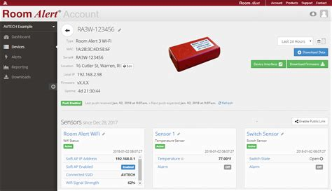 rooms to go account login how to rename devices and sensors in your roomalert account avtech