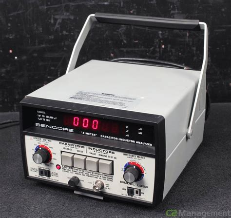 capacitor inductor analyzer sencore lc 53 z meter capacitor inductor analyzer ebay