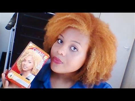 dyeing natural hair ginger blonde, creme of nature exotic