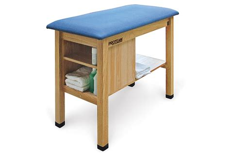 h brace table h brace taping table with end cabinet proteam by hausmann