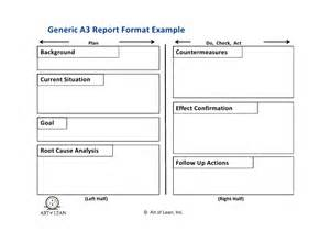 Machine Breakdown Report Template patterns of kaizen amp a3 thinking