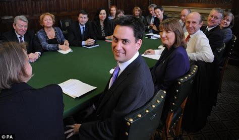 Labour Cabinet Members by Ed Miliband Holds His Labour Shadow Cabinet Meeting