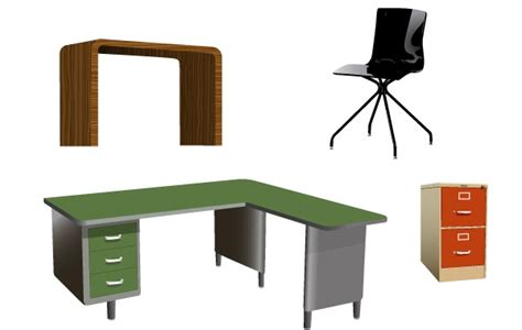 Office Furniture Vectors Clip Arts Free Clip Art Office Desk Clipart