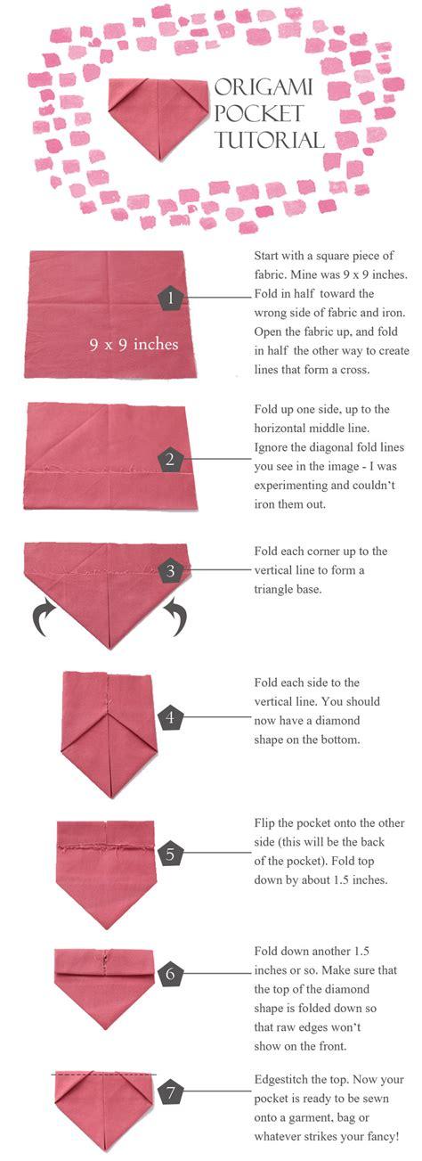 How To Make An Origami Pocket - origami pocket tutorial sanae ishida