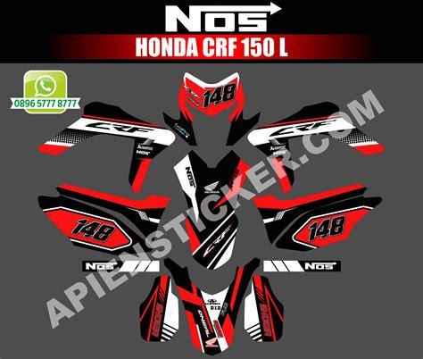 striping motor honda crf  hitam merah apien sticker