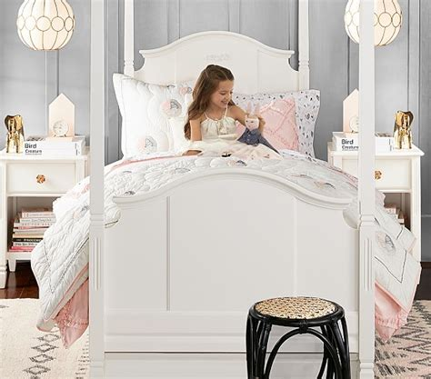 children s canopy bed madeline canopy bed pottery barn kids