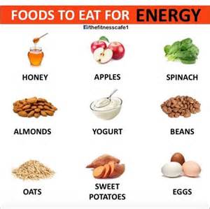best foods to eat energy tfe times