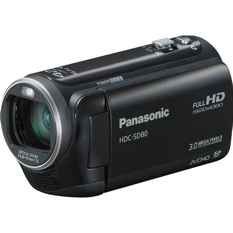 with camcorder panasonic hdc sd80 high definition camcorder black hdc sd80k